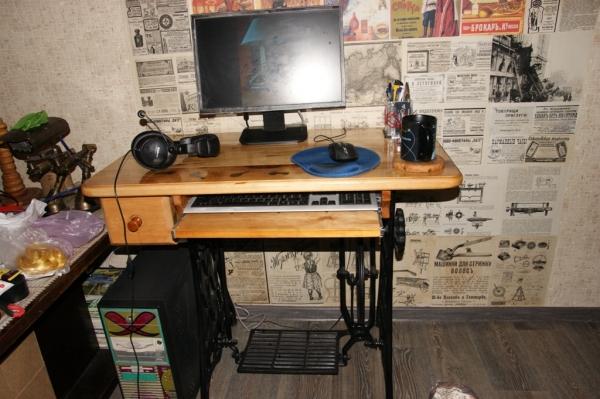 Компьютерный стол на станине Zinger.