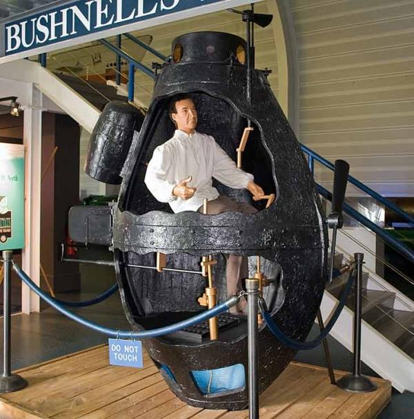 Подводные суда. Лодка Бушнелла.