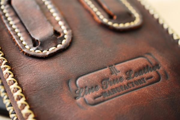 кожаный подсумок, лого