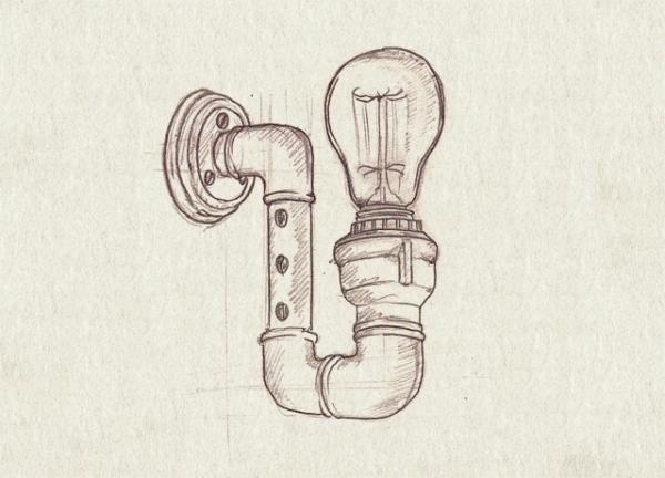 Рисунки чугунных светильников