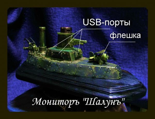 Авiанесущiй мониторъ Шалун. USB-hub + рассказ