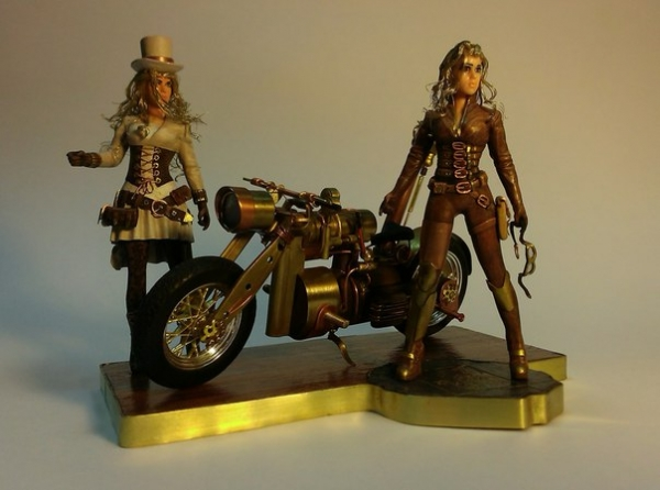 Моделька парового мотоцикла, М1:20