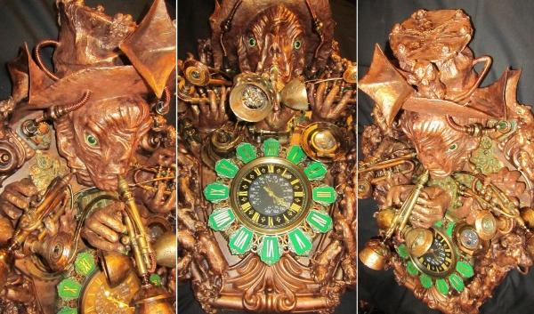 Часы - Крысолов из Гамельна. The Piper of Hamelin.