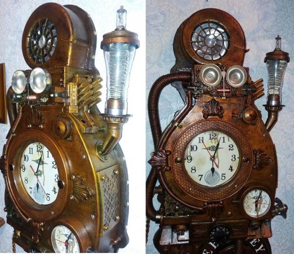 Арт-объект часы EBUNDEY инженера Гарина.
