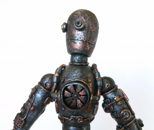 Робот в стиле стимпанк на шарнирах, часть вторая