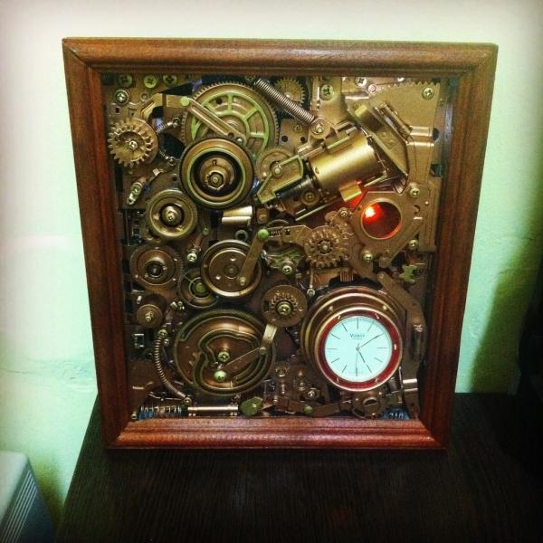 Настольная электромеханическая картина-часы