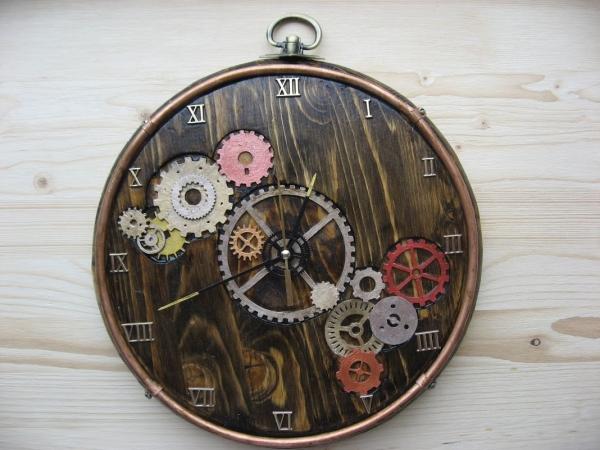 настенные часы с шестеренками