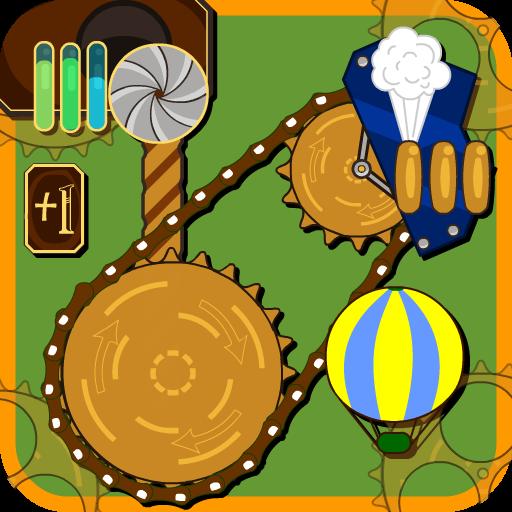 Стимпанковая игра с возушными шарами и шестерёнками
