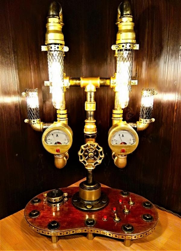 Светильник на 6 лампочек Эдисона