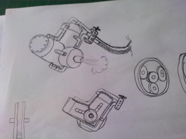 Имперский автономный ударно-разведывательный паровой дрон (Фото 8)