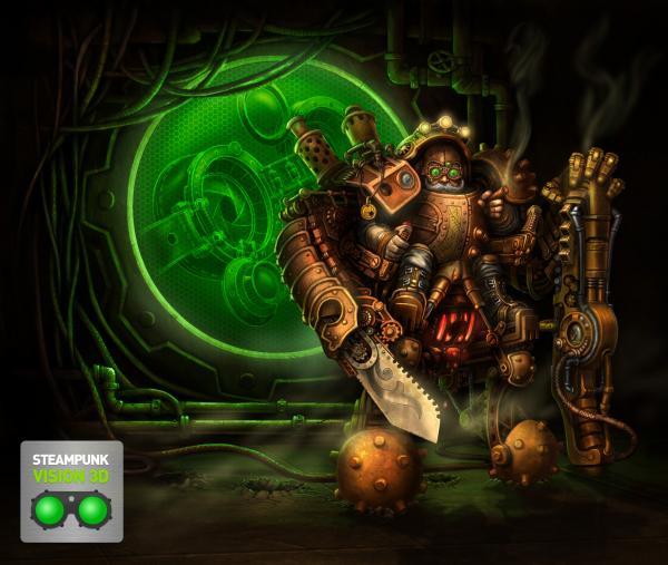 Работа на конкурс Steampunk-Vision 3D в Студию, автор Oleg Pavlov