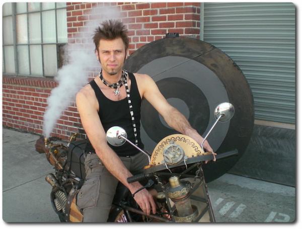 Tom Sepe's Steampunk Motorbike
