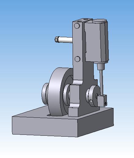 3D-модель машины с качающимся цилиндром (Фото 2)
