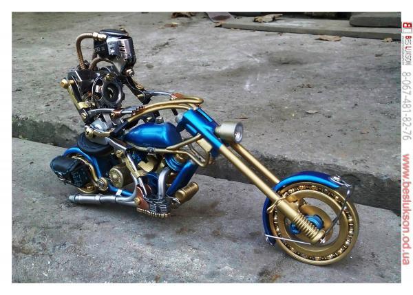 робот байкер в стиле киберпанк (Фото 7)