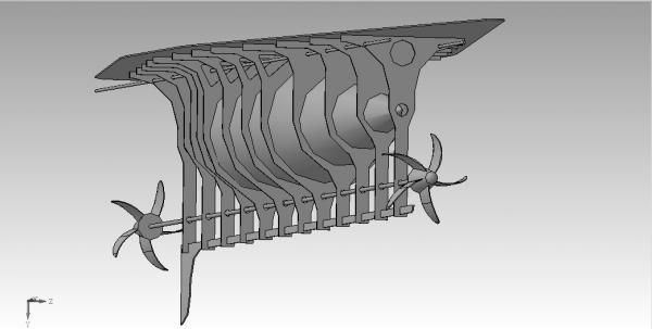 Летучий корабль 2 (3D-модель шаг за шагом) (Фото 6)
