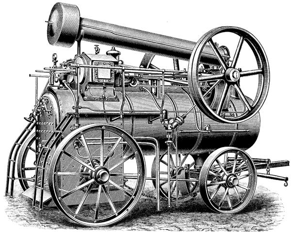 Рисунки паровых машин и механизмов.