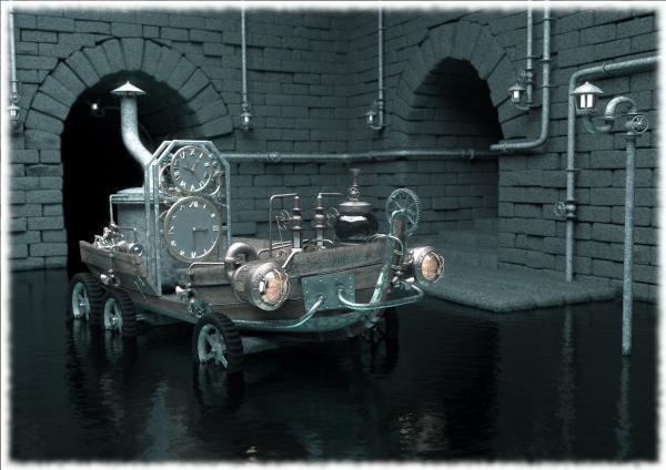 Машина времени в стиле Steampunk