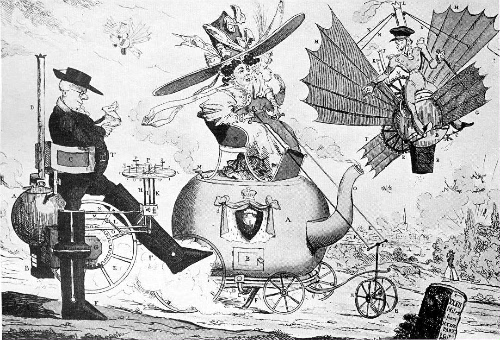 Locomotion карикатура второй половины 1820-х