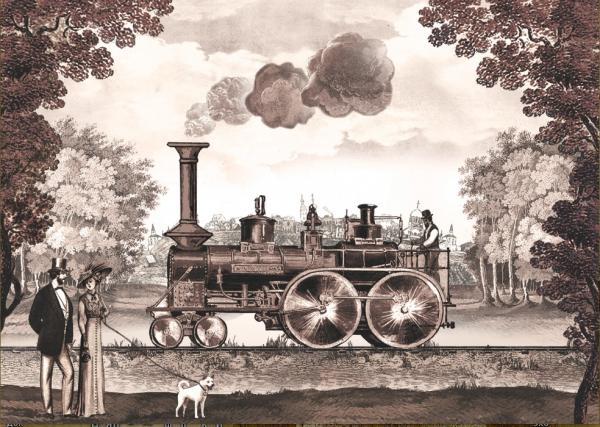 Прибытие паровоза и балеринки