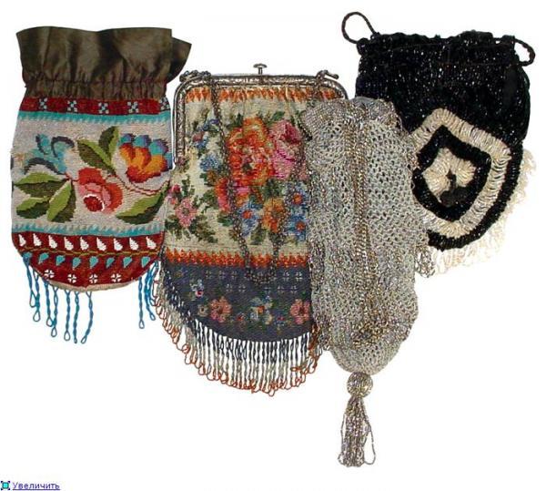 Дамские сумочки в Викторианскую эпоху (Фото 16)