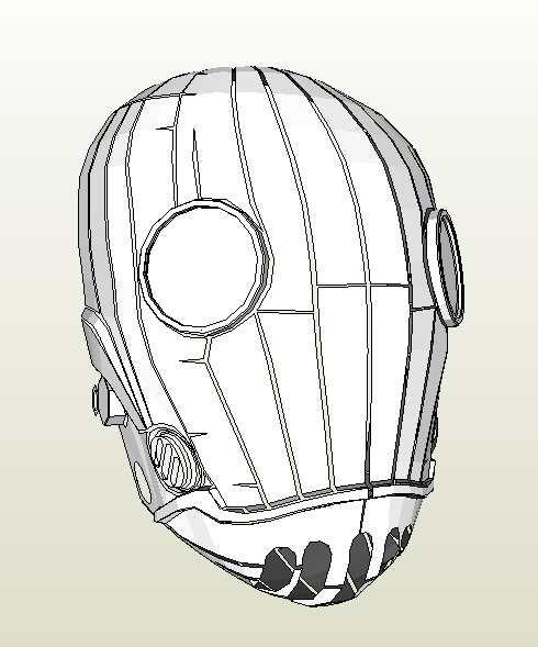Маска лорда Кроенена (Хеллбой), бумажная модель (Фото 2)
