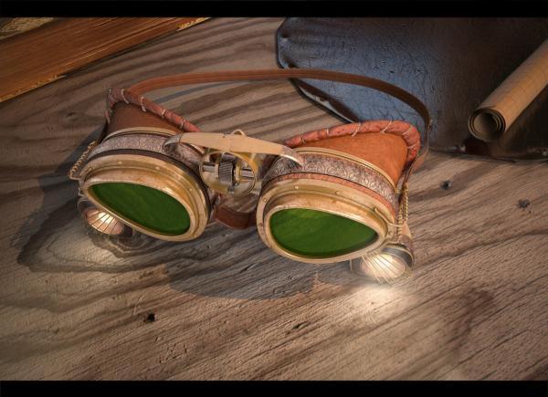 """Гоглы для конкуса  """"Steampunk-Vision 3D"""" (Фото 3)"""