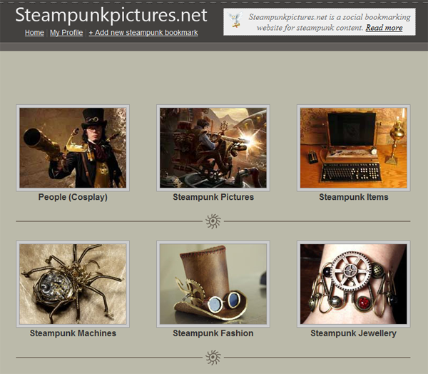 steampunkpictures.net - сайт закладок изображений в стиле Steampunk