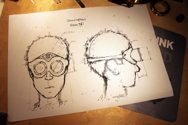 """""""Steam eyes"""" для конкурса «STEAMPUNK-VISION 3D» - Первая часть"""