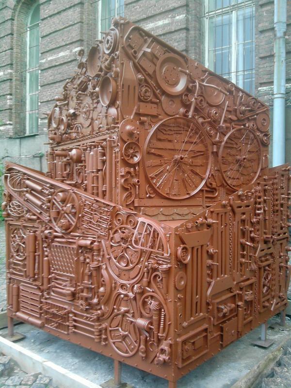 Во внутреннем дворике СПбГУ
