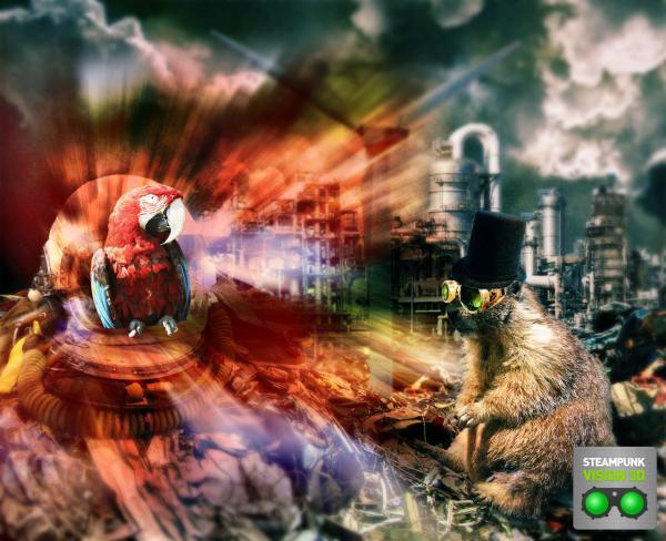 Работа на конкурс Steampunk-Vision 3D в Студию, автор Садовой Владимир