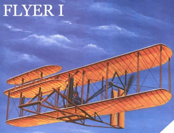 Самолет братьев Райт (бумажная модель)