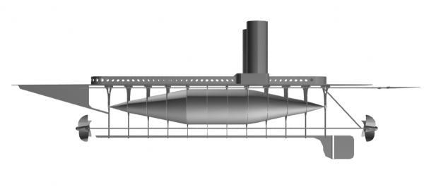 Летучий корабль 2 (3D-модель шаг за шагом) (Фото 11)