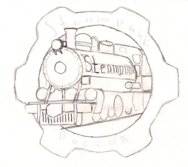 Вариант логотипа (паровоз и шестеренка)