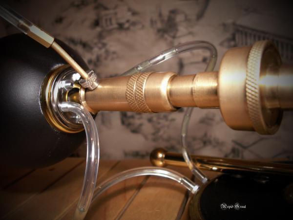 Стимпанк лампа № 1. (Фото 5)