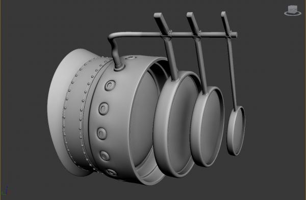 Конкурс Steampunk-Vision 3D. Гогглы в 3d. Переключение на текстуринг. (Фото 3)
