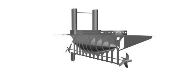 Летучий корабль 2 (3D-модель шаг за шагом) (Фото 8)