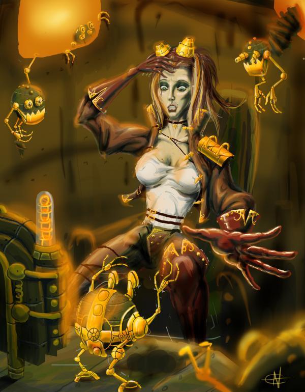 Работа на конкурс Steampunk-Vision 3D в Студию, автор Андрей Ковалёв