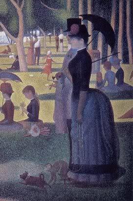 Дама в турнюре на одной из картин