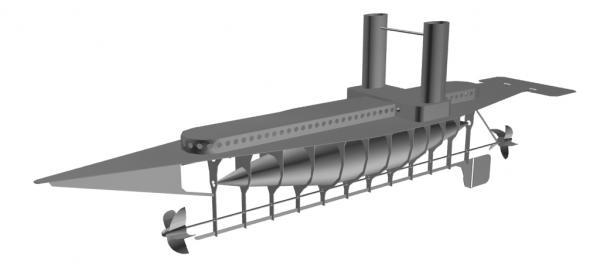 Летучий корабль 2 (3D-модель шаг за шагом)