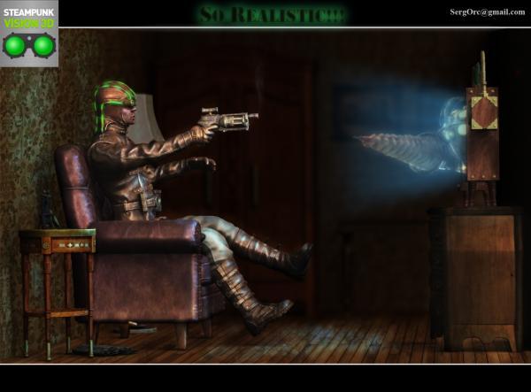 Работа на конкурс Steampunk-Vision 3D в Студию, автор SergOrc
