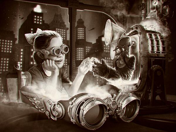 Гогглы в «Студию»... на тему Vision 3D и Bioshock