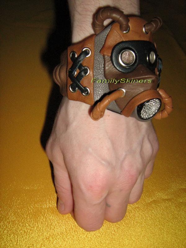 Кожаные браслеты в Steampunk и Cyberpunk стилях. (Фото 7)