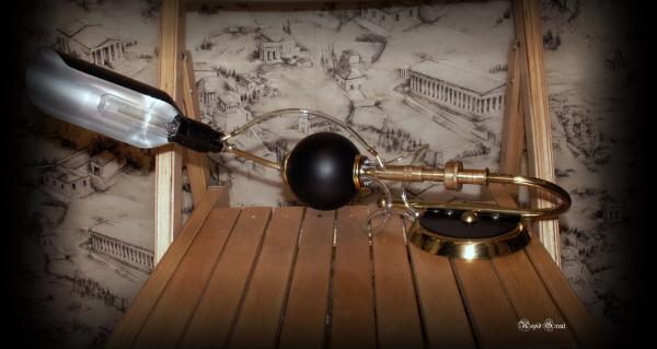 Стимпанк лампа № 1.