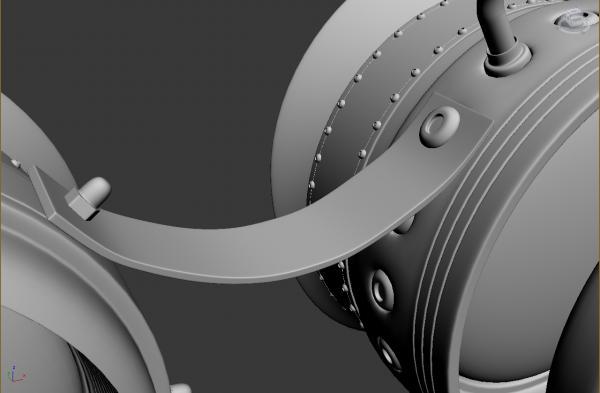Конкурс Steampunk-Vision 3D. Гогглы в 3d. Переключение на текстуринг. (Фото 5)