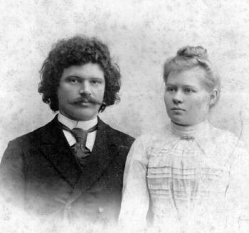 Таисия и Константин Александровы. Красноярск. 1900г.