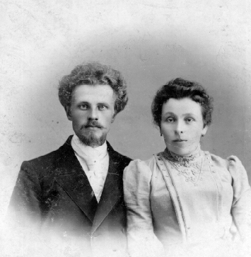 Лебедевы - Ипполит Венедиктович с женой Пелагеей Ананьевной. 1901г. г. Красноярск.