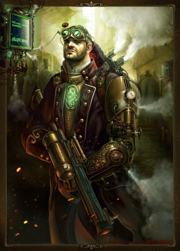 Работа на конкурс Steampunk-Vision 3D в Студию, автор Sergey (maker-hs)