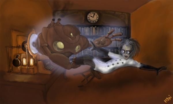 Работа на конкурс Steampunk-Vision 3D в Студию, автор Михаил