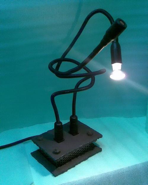Брутальный светильник.