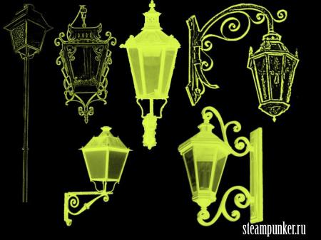 Кисти со старинными фонарями